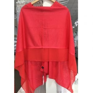 Summer Poncho Hot Red