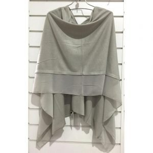Summer Poncho Silver Grey