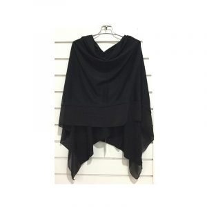 Summer Poncho Black
