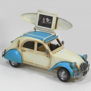 Metal 2CV Car With Picture Frame