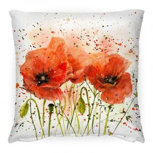 Poppies in Bloom Cushion
