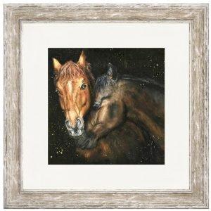 Brandy & Bailey The Horses Framed Print