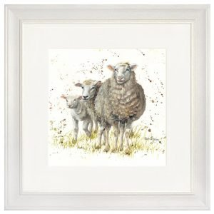 Ewe & Two Lambs Framed Print