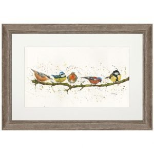 Birds on a Branch Framed Print