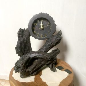 Natural Wood with Clock Insert Large