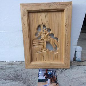 Hand Carved From Photo With Frame