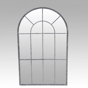 Arched Metal Window Style Mirror