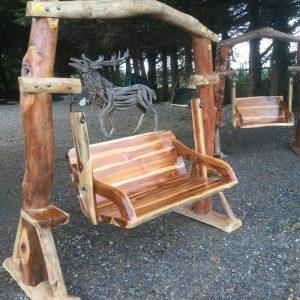 Natural Teak Garden Swinging Seat Medium