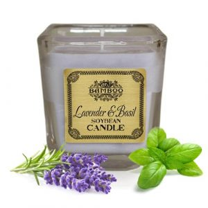 Lavender & basil Scented Candle