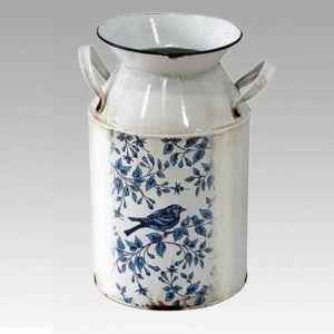 Decorative Metal Enamel Churn (Lg)