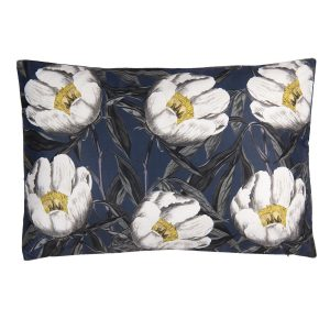 Navy & Mustard Floral Cushion