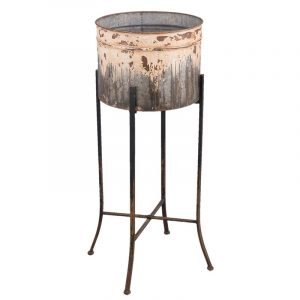 Metal Plant Pot On Stand