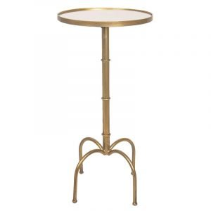 Circular Mirrored Top Wine Table
