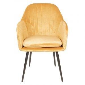 Mustard Velvet Occasional Chair