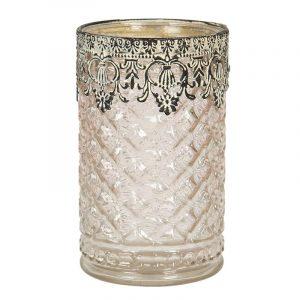Moulded Glass Tea Light Holder