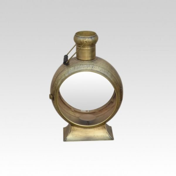Gold coloured metal lantern