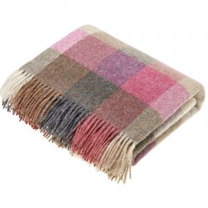 Harlequin Heather Merino Lambs Wool Throw