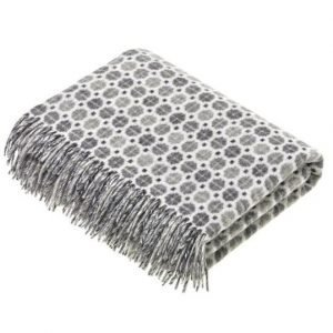 Geometric Design Milan Grey Lambs Wool Throw