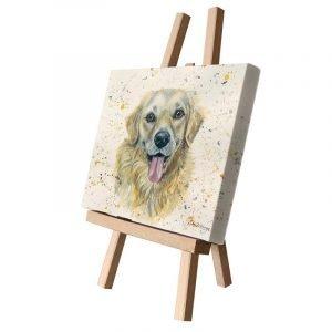 Gwenn the Golden Retriever Small Canvas
