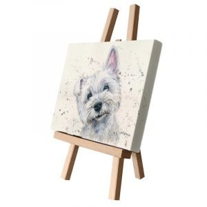 Fergal the Scottie Small Canvas