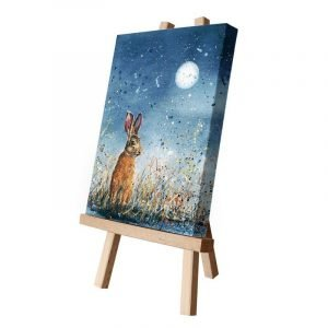 Hayden the Hare in Moonlight Small Canvas