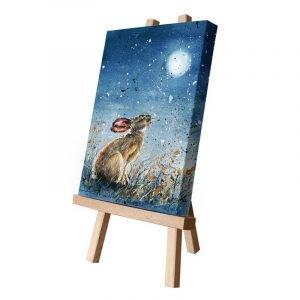 Heath the Hare Moon Gazing Small Canvas