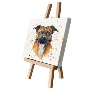 Spike the Boxer Dog Small Canvas