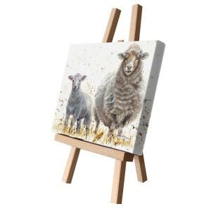 Ewe & Lamb Small Canvas