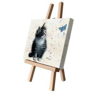 Poppy the Kitten Small Canvas