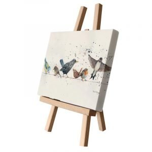 Birds on the Wire Small Canvas