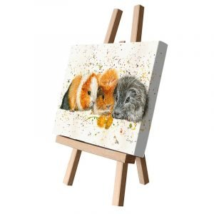 Snap, Crackle & Pop the Guinea Pigs Small Canvas