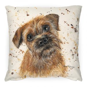 Buddy the Brown Terrier Cushion