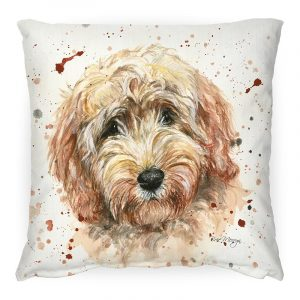 Candy the Labradoodle Cushion