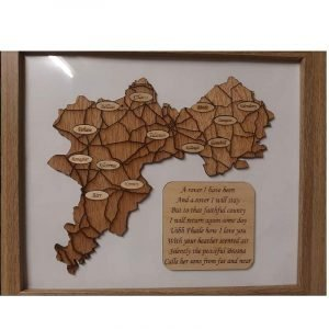 Framed Map of Offaly