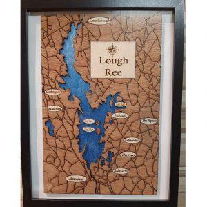 Framed Map of  Lough Ree