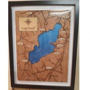 Framed Map of  Lough Ennel