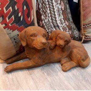 Laying Dog & Puppy