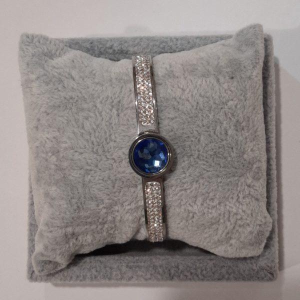 Silver-bangle-interchangeable-stone