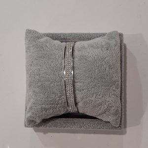 Silver Bangle With Stones