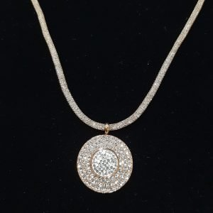 Crystal & Cubic Zirconia Rose Gold Chain