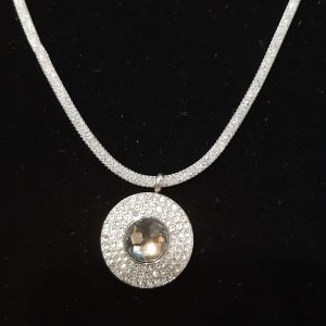 Crystal & Cubic Zirconia Silver Chain