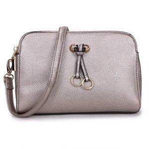 Metallic Grey Cross Body Bag