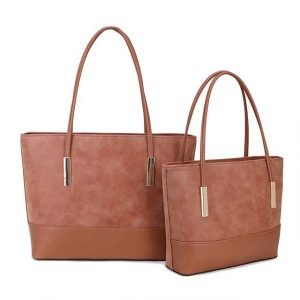 Two Tone Tan Every Day Hand Bag