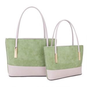 Two Tone Mint Green Every Day Hand Bag