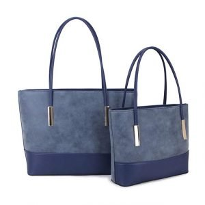Two Tone Denim Blue Every Day Hand Bag