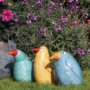 Ceramic Pottery Yellow Crazy Bird
