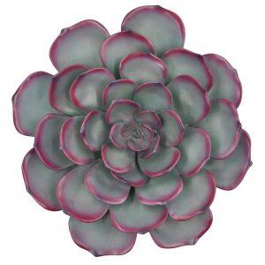 Cast Resin Cactus Flower 3D Wall Art