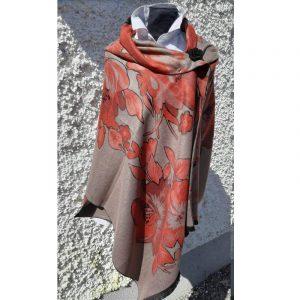 Grey/Brown Cashmere Wrap