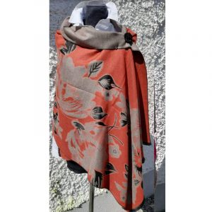 Terracotta coloured Cashmere Wrap