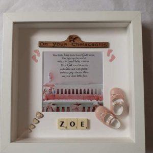 Christening Frame Personalised Gift